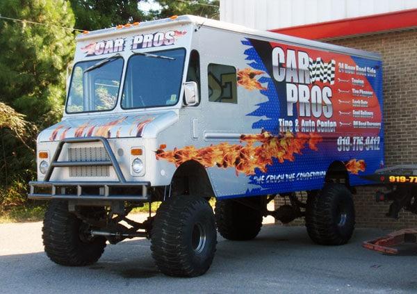 Car Pros Monster Truck Wrap Creates Instant Buzz Capital Wraps