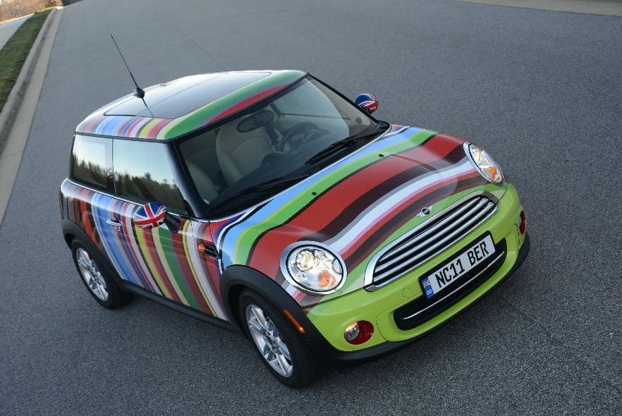 mini cooper vehicle wrap makes it to magazine capital wraps. Black Bedroom Furniture Sets. Home Design Ideas