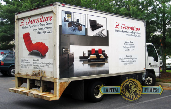 Modern Furniture Company Brings Vehicle Wrap Up To Date Capital Wraps