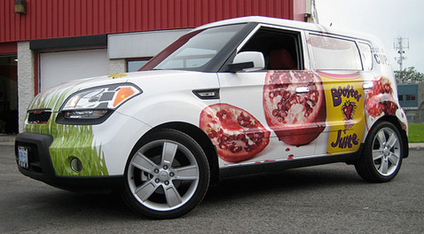 Wholesome Juice Company Boosts Awareness With Vehicle Wrap