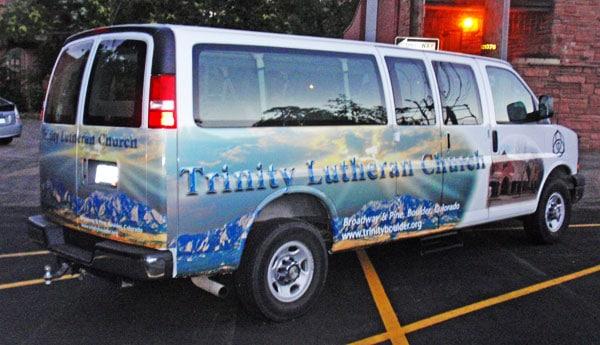 Trinity Church Van Wraps With Divine Graphics Capital Wraps